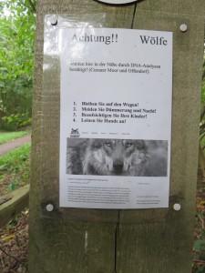 Werbung der anderen Art für Wolfsite. Isegrim sagt danke!